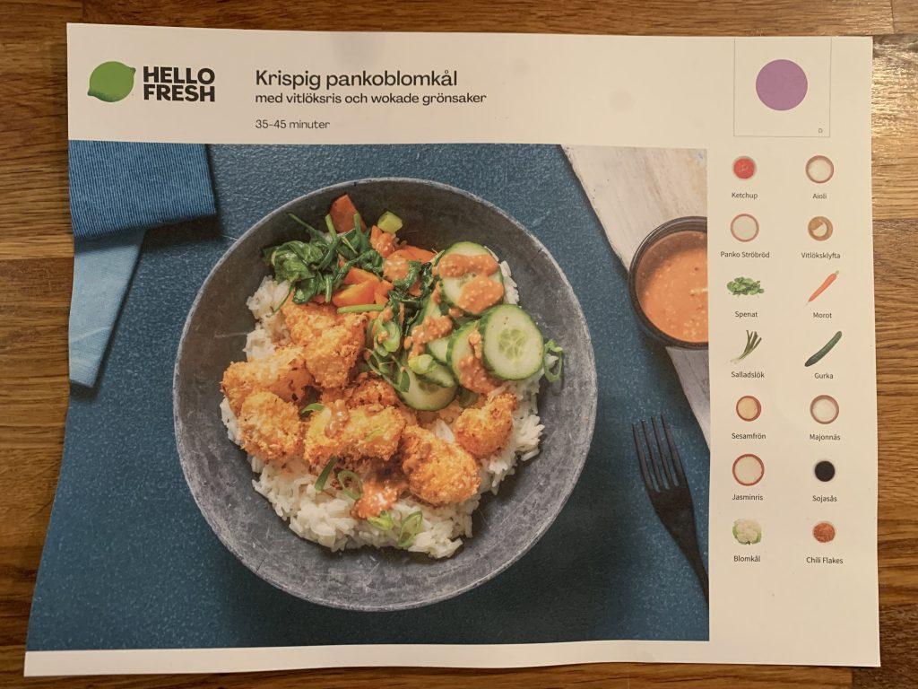 Hello Fresh - Recept